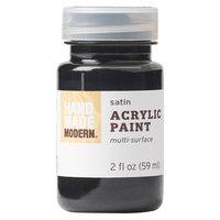Plaid Enterprises, Inc. Hand Made Modern - 2oz Acrylic Paint - Satin - Coal (Grey)