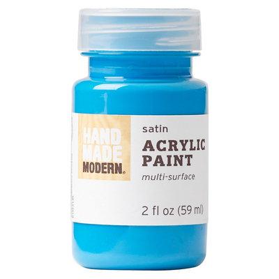 Plaid Enterprises, Inc. Hand Made Modern - 2oz Acrylic Paint - Satin - Bright Blue
