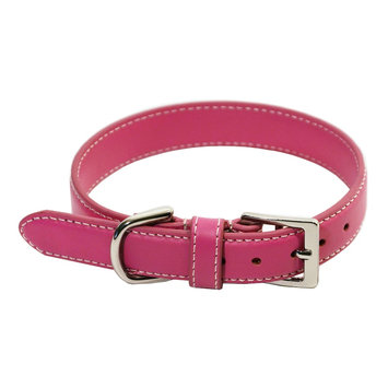Brookstone Royce Leather Perry Street Dog Collar - Small (Pink)