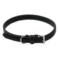 Brookstone Royce Leather Perry Street Dog Collar - Medium (Black)