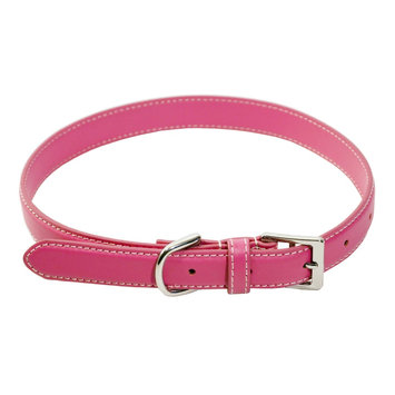 Brookstone Royce Leather Perry Street Dog Collar - Medium (Pink)