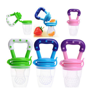 Jeobest Baby Fruit Feeder Pacifier - Fresh Food Nibbler, Infant Fruit Teething Toy, Silicone Pouches for Toddlers MZ
