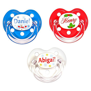 MeaMagic Christmas Personalized Pacifier Set, Multi-Colored