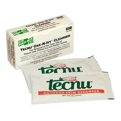 First Aid Only Tecnu Oak-N-Ivy Skin Cleanser, 4 Per Box
