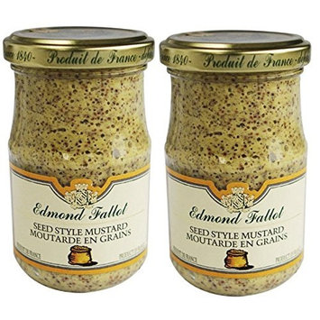 Edmond Fallot Old Fashioned Grain Dijon Mustard, 7.4 oz Jar (Pack of 2)