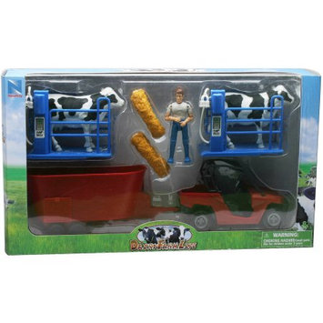 New Ray SS-05015B Dairy Farm Life Set Medium Playset, Pack of 6
