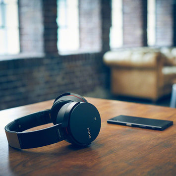 Sony Extra Bass Bluetooth Headphones with App Control, Black (2017 model)