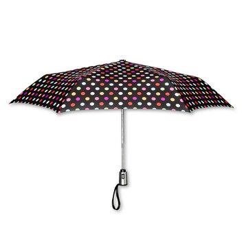 ShedRain Polka Dot Print Auto Open Auto Close Compact Umbrella, Multi Color