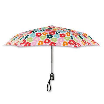ShedRain Compact Auto Open/Close Air Vent Umbrellas - Multicolor Floral, Multi-Colored