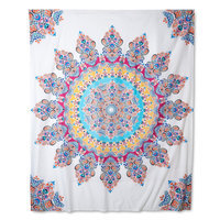 Ellery Homestyles Boho Boutique Gypsy Rose Tapestry - Pink/Cream, Multi-Colored