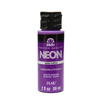 Folk Art 2856 Neon 2-Ounce Acrylic Paint, Neon Purple