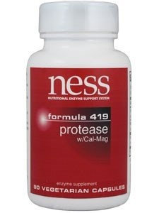 Ness Enzyme's Protease w/Cal-Mag #419 90 caps by Ness Enzymes