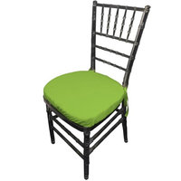 LA Linen PopChiavaryPadCover-Pk4-LimeP84 Polyester Poplin Chiavary Chair Cushion Cover Lime - Pack of 4