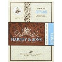 Harney & Sons Black Tea, Ceylon, 20 Sachets (Pack of 6)