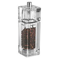 Cole & Mason Square Acrylic Pepper Grinder, Clear
