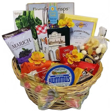 Healthy and Sweet Deluxe Snack Basket