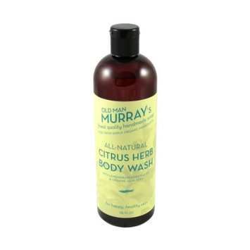 Citrus Herb All-Natural Body Wash w/ Lemongrass Essential Oil - Handmade w/ Simple Organic Ingredients - No Parabens, Alcohol, Petroleum, Artificial Dyes or Fragrances