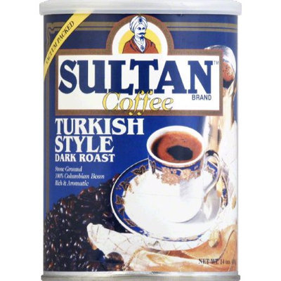 Sultan Coffee Grnd Dark Turkish Can 14 OZ -Pack Of 6