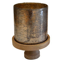 Rojo 16 618-M 9 x 9 x 12.5 in. Brunei Mango Gold Cylinder Medium