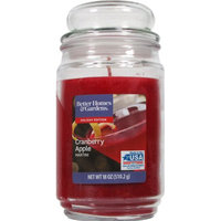 Candle Lite Better Homes & Gardens 18oz Cranberry Apple Martini jar candle with Bubble Lid