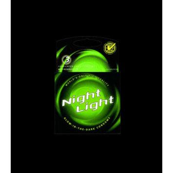 Night Light Glow in the Dark Latex Condoms - 3pk
