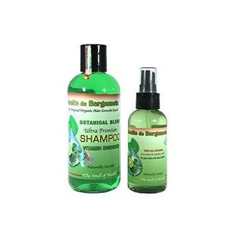 Bergamot Shampoo and Bergamot Oil, Aceite de Bergamota y Shampoo de Bergamota 100 Natural Product, Eco Friendly