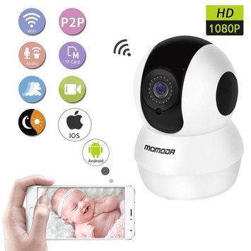 MOMODA Wireless WiFi IP Camera 1080P HD Indoor Baby Monitor with 2 Way Talk & Pan/Tilt & Night Vision Micro SD Card Slot