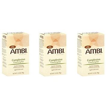 [PACK OF 3] AMBI SKINCARE COMPLEXION CLEANSING BAR GENTLE CLEANING 3.5oz: Beauty
