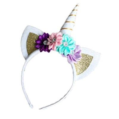 Sylvia QE Unicorn Kids and Adults Hair Band Birthday Headband Decor for Young Ladies and Girl