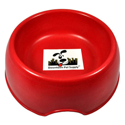 Go Green with our Eco-Friendly Bamboo Pet Feeding Bowls suitable for dogs and cats, water or food (Red, 32 oz)