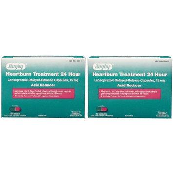 Heartburn Treatment Lansoprazole 15 mg Delayed Release Acid Reducer Generic for Prevacid OTC 15 mg Capsules 42 ea. Pack of 2 Total 84 ea.