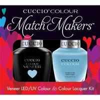 CUCCIO COLOUR - LED/UV Gel and Nail Lacquer DUO pack .5oz/15ml (6101 - Under Blue Moon) by Cuccio