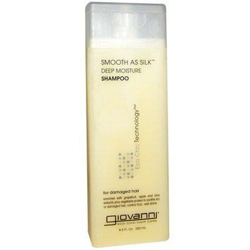 Giovanni Smooth As Silk Shampoo, Deep Moisture For Damaged Hair, 8.5 oz