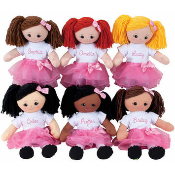 Personalized Doll With Tutu and Hair Clip