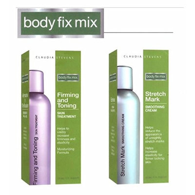 Claudia Stevens Body Fix Mix - Deluxe 2 Piece Skin Firming and Smoothing Set