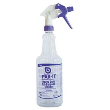 Pak-It. 574420004012 Color-Coded Trigger-Spray Bottle 32 oz Purple: Heavy-Duty All Purpose Cleaner
