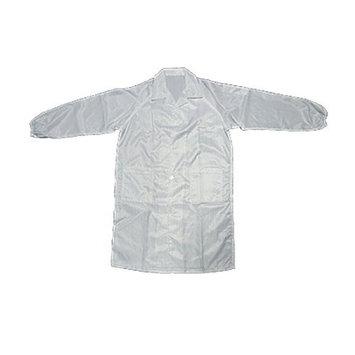 uxcell White Anti-static Cloth Unisex Size L LAB Coat Smock