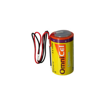 OmniCel ER34615 3.6V 19Ah Sz D Lithium Battery w/ Wire Leads RFID Beacons AMR