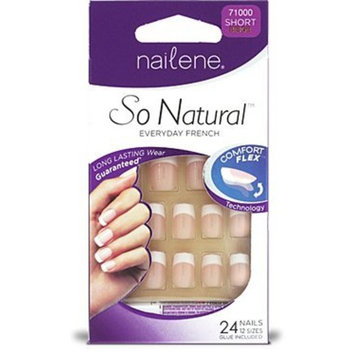 So Natural Everyday French Nails - 24 count