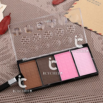 4 Colors Makeup Powder Palette Bronzer Nose Shadow Shadding Blusher Cosmetic Kit
