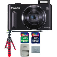 Canon PowerShot SX610 HS 20.2MP 18x Optical Zoom Wifi Digital Camera with Tripod & 40GB Memory Card Black