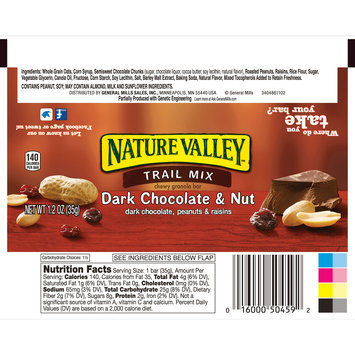 Nature Valley Trail Mix Dark Chocolate and Nut  Chewy Granola Bar