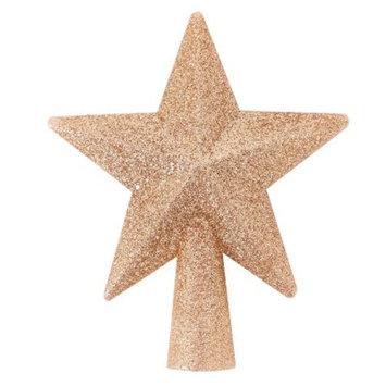 Mini Gold Glitter Star Tree Top Warm White LED - Wondershop™