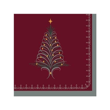 Tinsel Tree Lunch Napkins