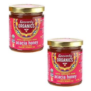 Heavenly Organics 100% USDA Certified Raw White Honey Certified Kosher, 12oz, 6 pack