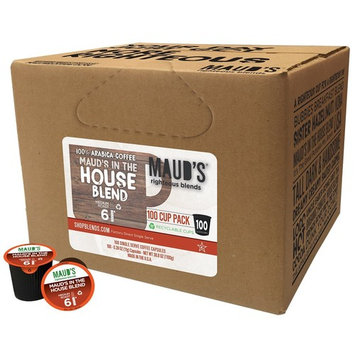Maud's Gourmet Coffee Pods - Maud's in the House Blend, 100-Count Single Serve Coffee Pods - Richly Satisfying Premium Arabica Beans, California-Roasted - Kcup Compatible, Including 2.0 [House Blend]