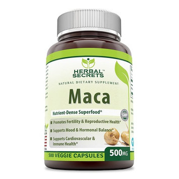 Herbal Secrets Maca 500 Mg 500 Caps - Supports Reproductive Health - Energizing Herb
