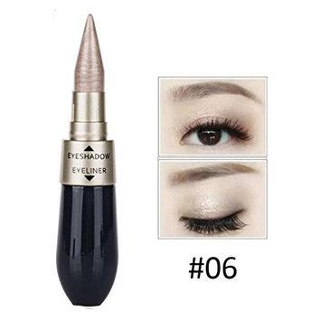 DZT1968 Portable 9g Double-end Waterproof Liquid EyeShadow Eyeliner Combination Easy To Wear Makeup