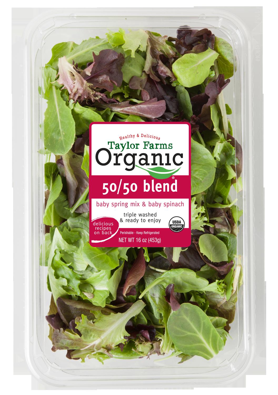 Taylor Farms Organic 50/50 Salad Blend
