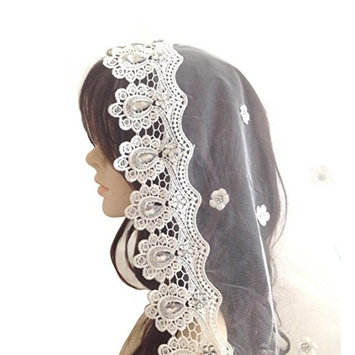 Exquisite Selebrity 1t 1 Tier Lace Edge Bridal Wedding Veil